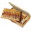 Pfeil 25 delige set in houten koffer