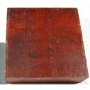 Satijnhout rood, Satin bloodwood 150x150x75mm
