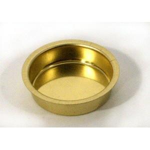 Cup Voor Theelichten 12mm Diep Messing 4 stuks