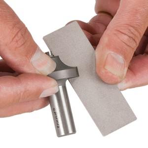 Kleine diamantsteen 3 inch dubbelzijdig  Korrel 600 en 340 DWS/P3/FC