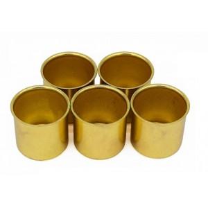 Kaarsencups recht, kleur: goud, 5st.