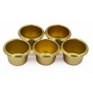 Kaarsencups taps, kleur: goud, 5st.