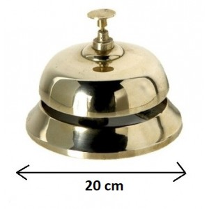 Hotel Bel XXL Messing plated / Desk Bell Messing plated XXL